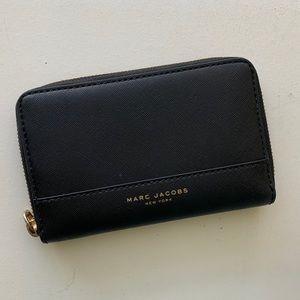 MARC JACOBS black crossgrain leather wallet